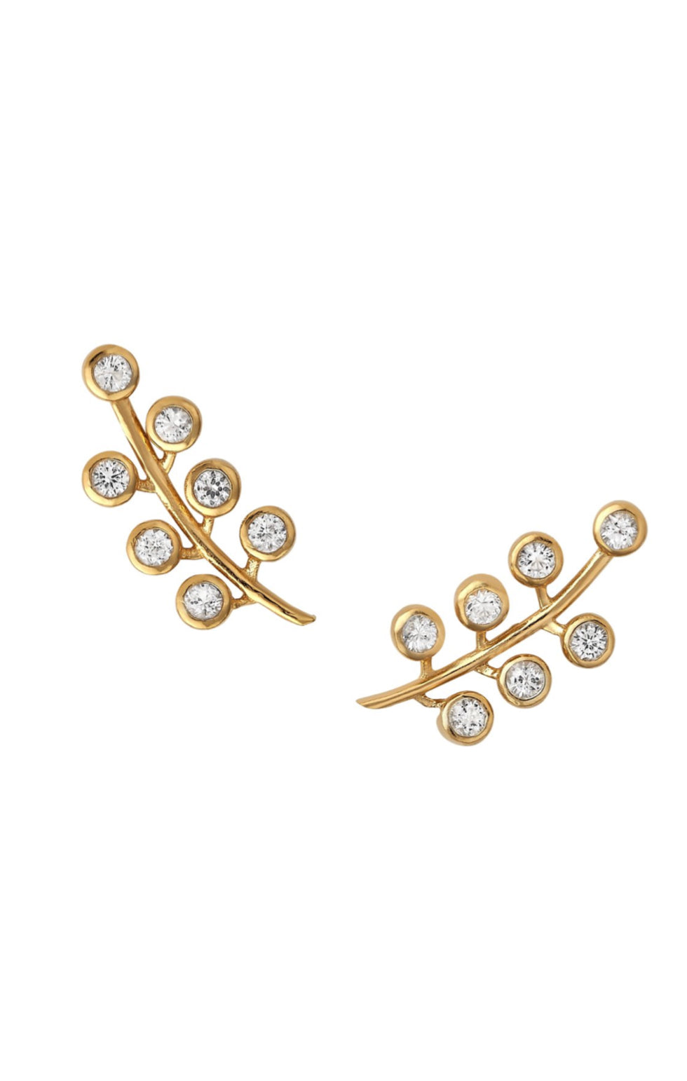 Berry Pave Earring - White Topaz
