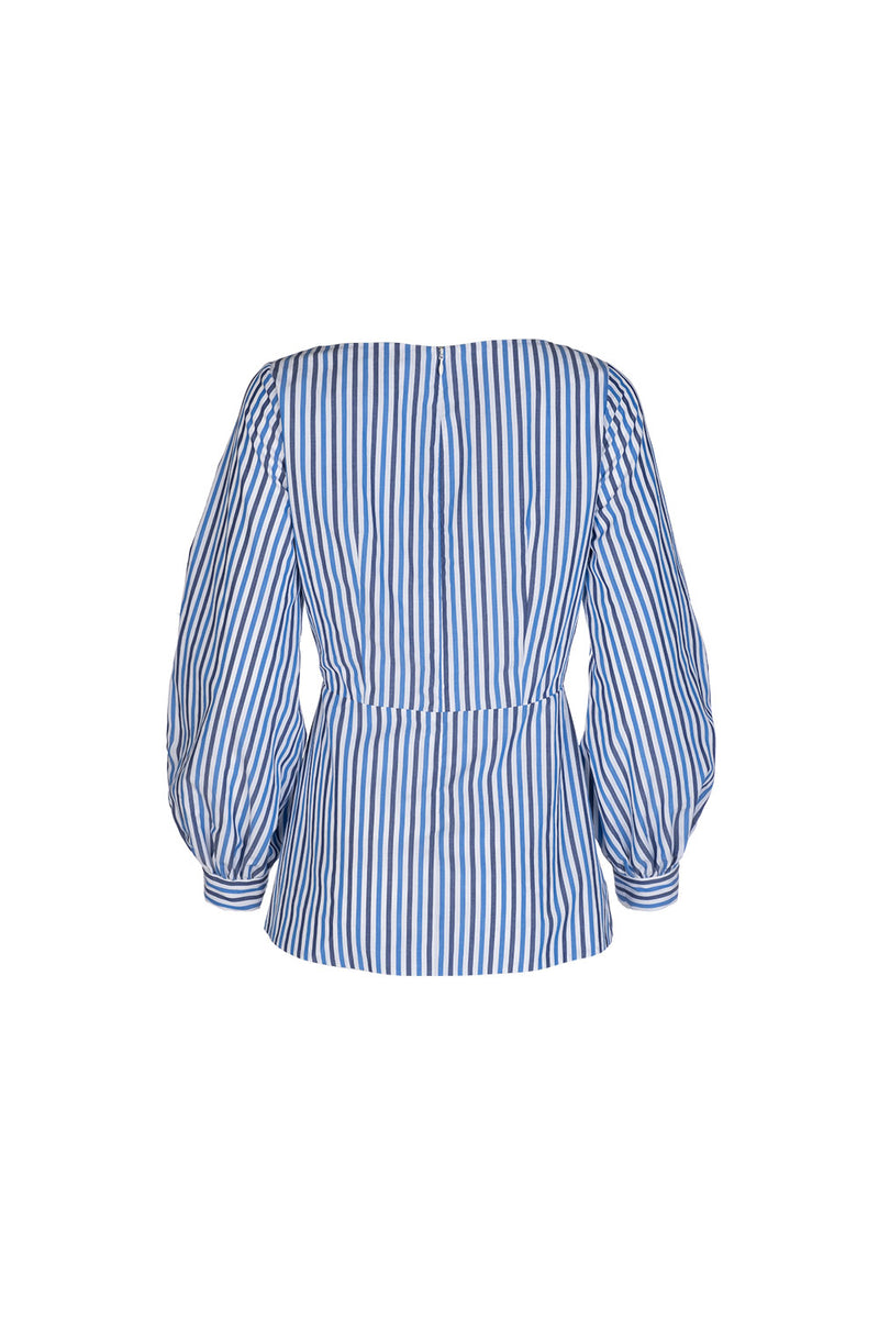 Juniper Blouse - Stripe Cotton