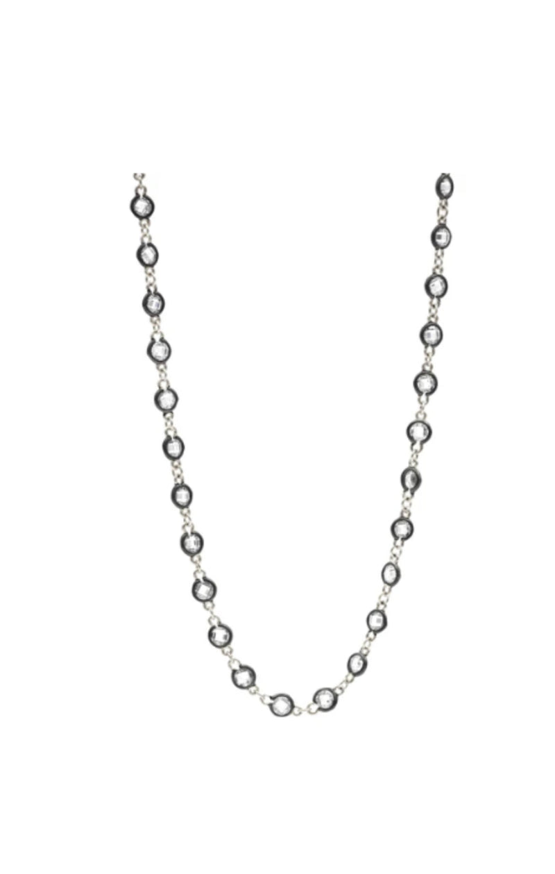 Radiance Wrap Necklace - Silver and Black