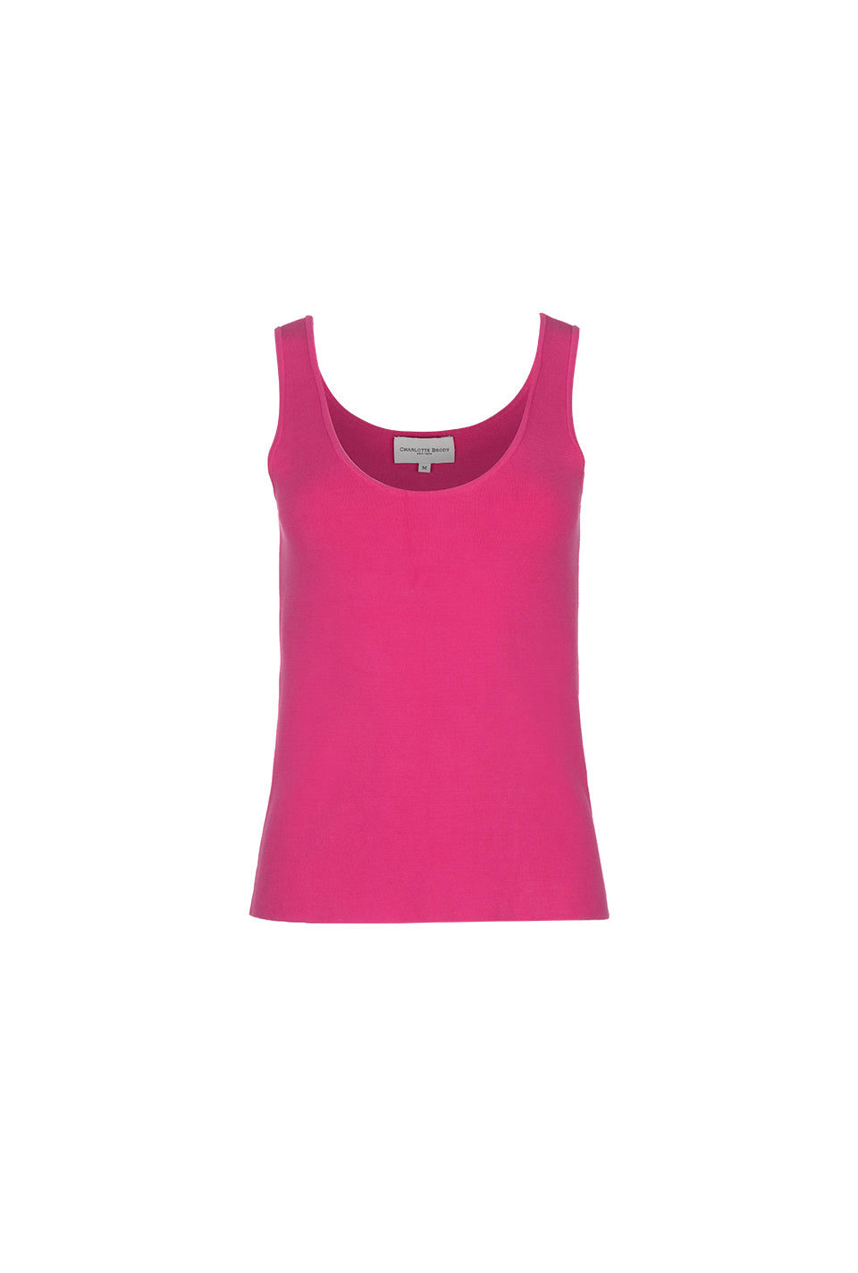 High Low Knit Tank - Hot Pink