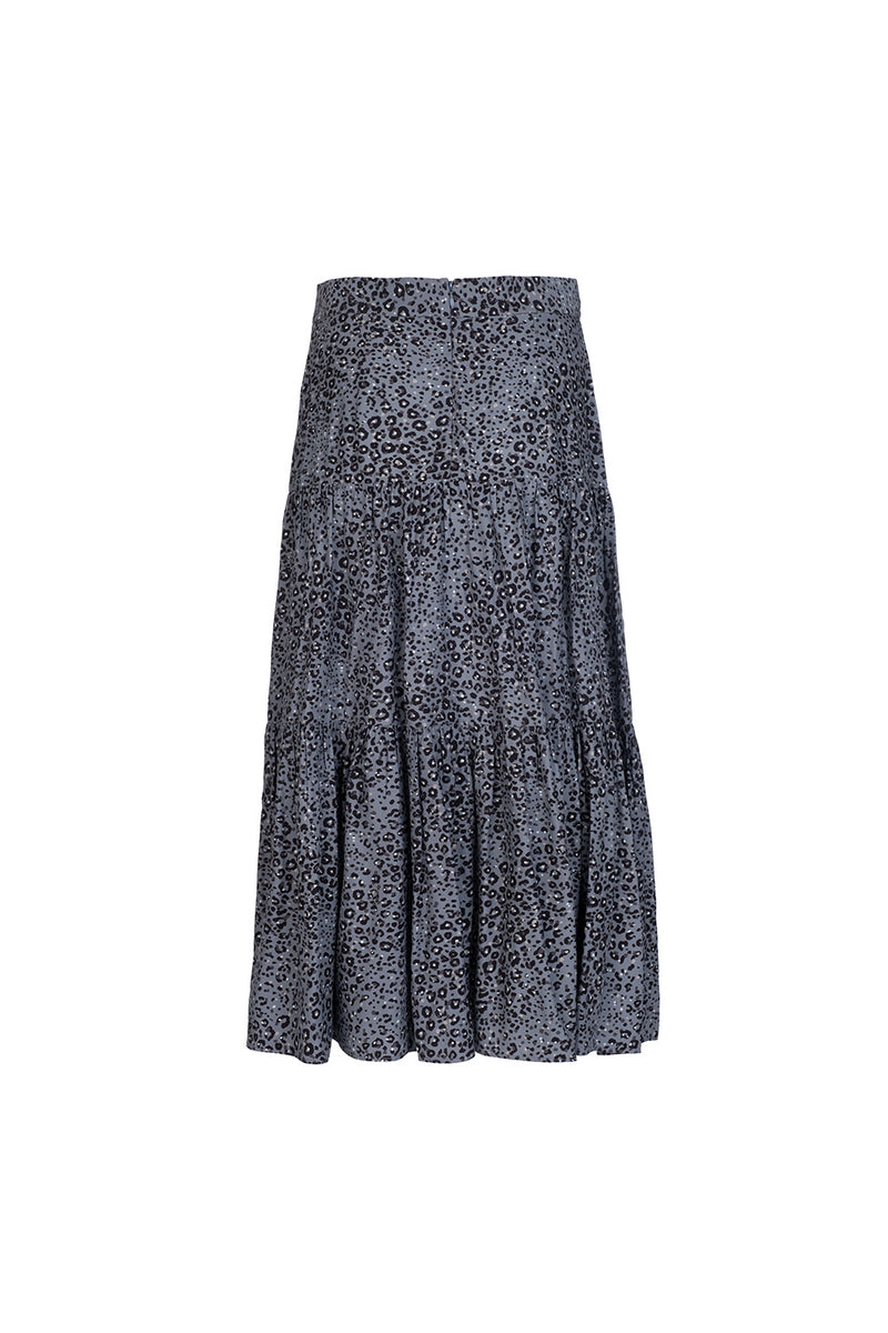 Tiered Midi Skirt - Smoky Jaguar