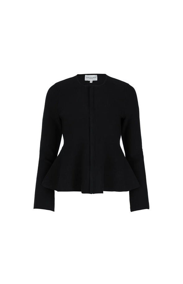 Flare Knit Blazer - Black