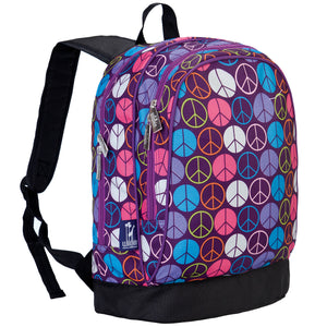 Wildkin Peace Signs Purple 15 Inch Backpack