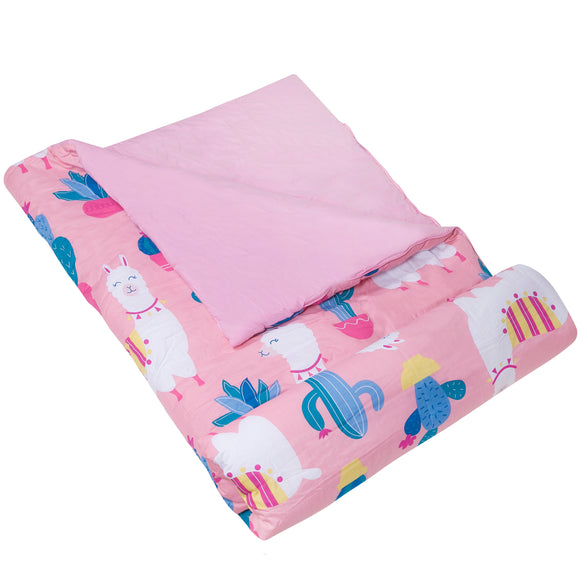 Pink Llamas & Cactus Sleeping Bag