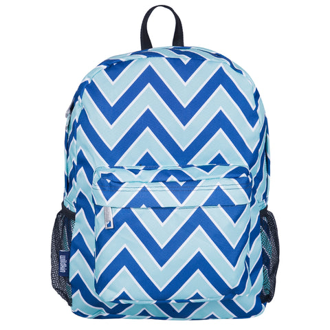 Chevron Blue 16 Inch Backpack