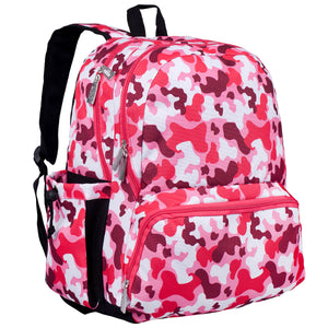 Camo Pink 17 Inch Backpack