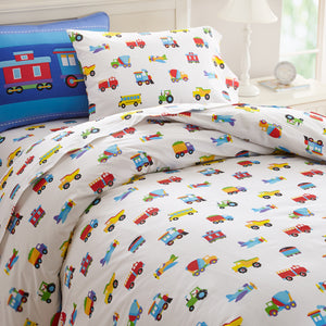 Trains, Planes, Trucks Duvet Cover