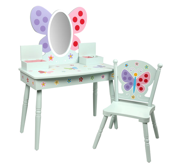 Butterfly Garden Vanity & Chair Set