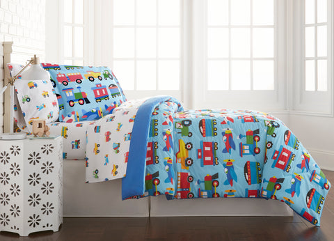 Trains, Planes, Trucks Lightweight Comforter