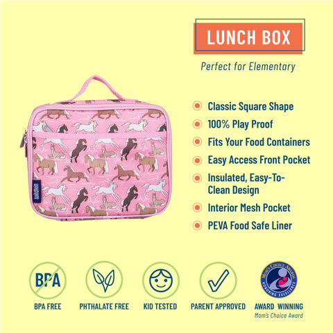 Horses in Pink Lunch Box