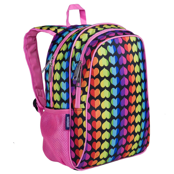Rainbow Hearts 15 Inch Backpack