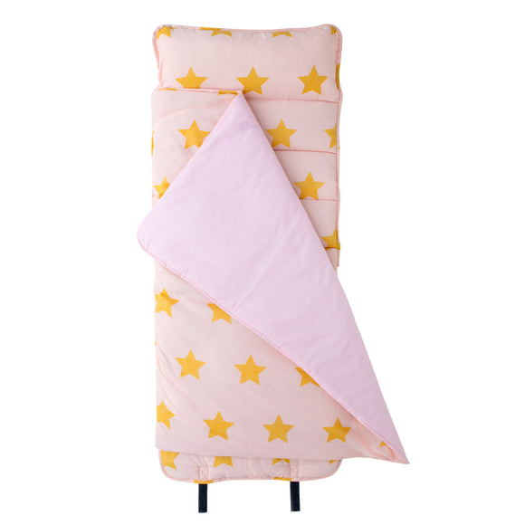 Pink and Gold Stars Original Nap Mat