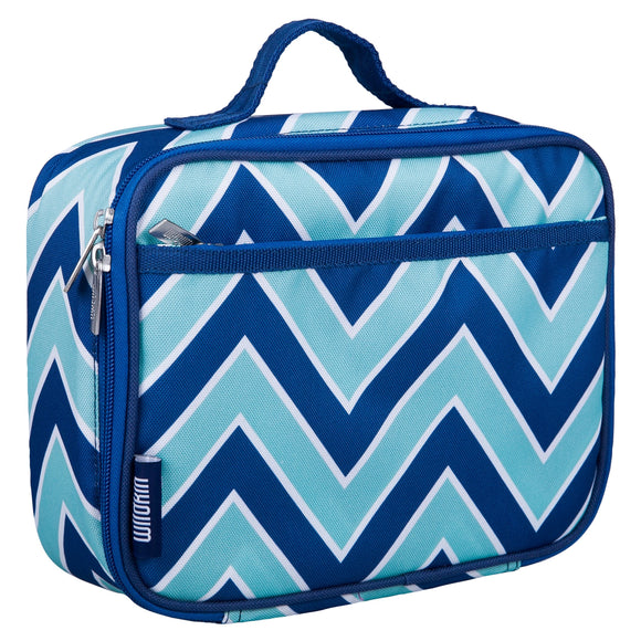 Chevron Blue Lunch Box