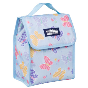 Butterfly Garden Blue Lunch Bag
