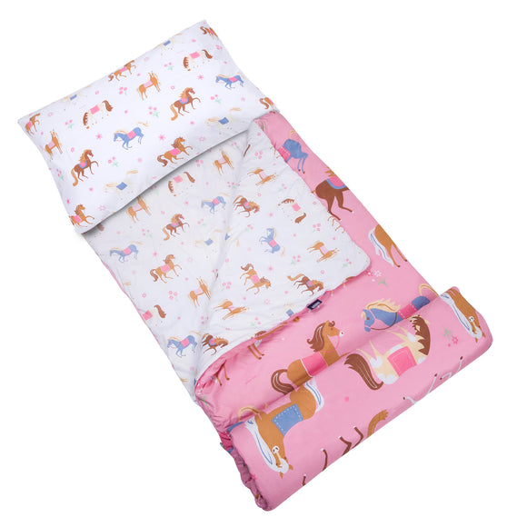 Horses Microfiber Sleeping Bag w/ Pillowcase