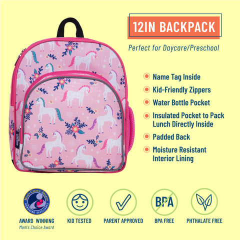 Magical Unicorns 12 Inch Backpack