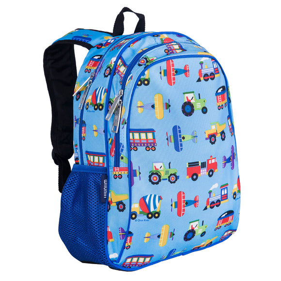 Trains, Planes & Trucks 15 Inch Backpack