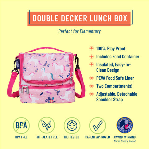 Magical Unicorns Two Compartment Lunch Bag