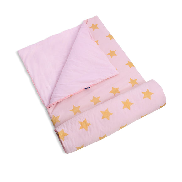 Pink and Gold Stars Original Sleeping Bag