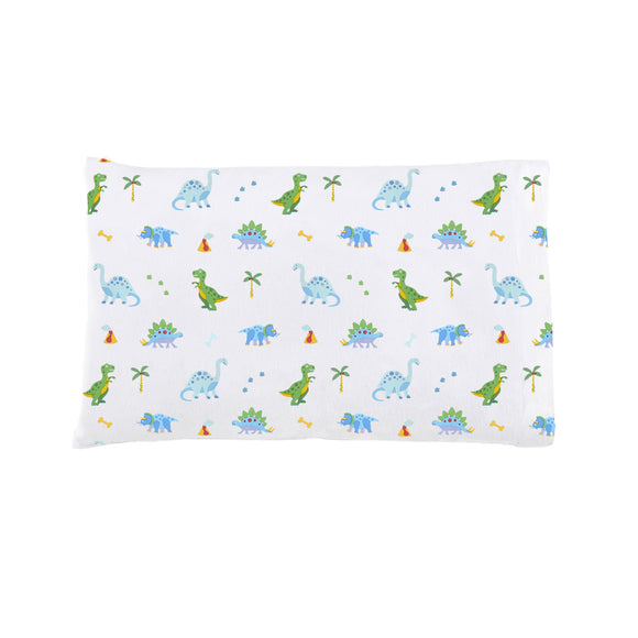 Dinosaur Land 100% Organic Cotton Flannel Toddler Pillowcase