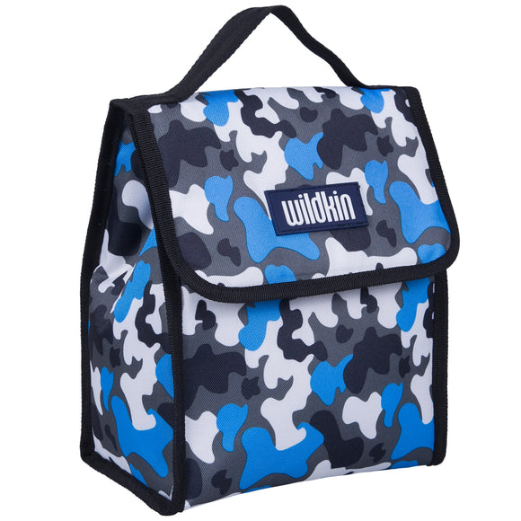 Blue Camo Lunch Bag
