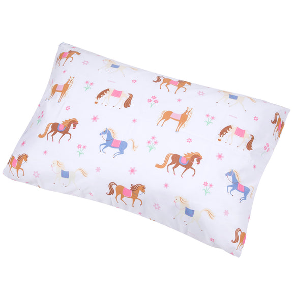Horses Microfiber Pillow Case