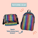 Rainbow Hearts Two Compartment Lunch Bag
