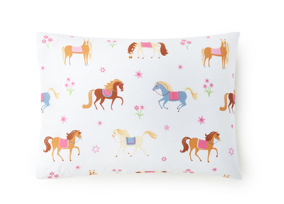 Horses 100% Cotton Pillowcase
