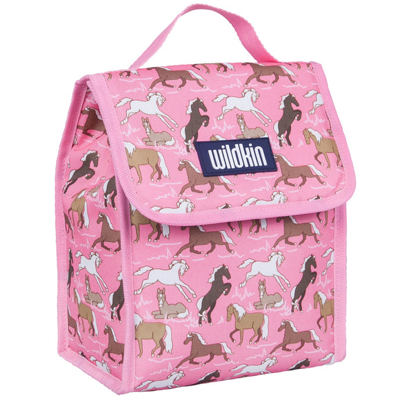 Horses in Pink Lunch Bag