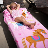 Horses 100% Cotton Beach Towel