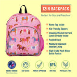 Horses 12 Inch Backpack
