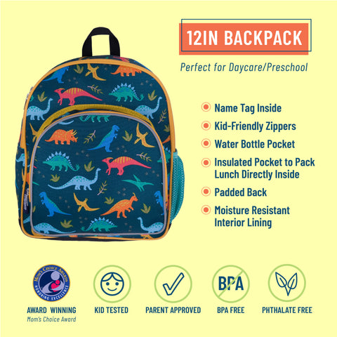 Jurassic Dinosaurs 12 Inch Backpack