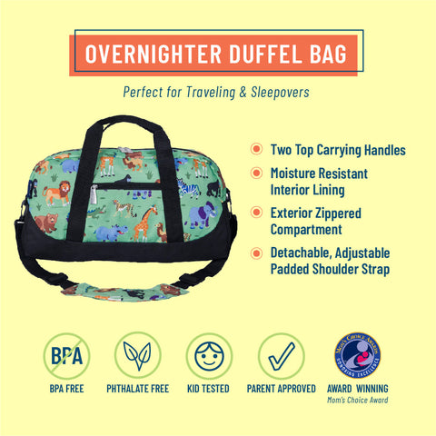 Wild Animals Overnighter Duffel Bag