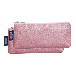 Pink Glitter Pencil Pouches (2 pk)