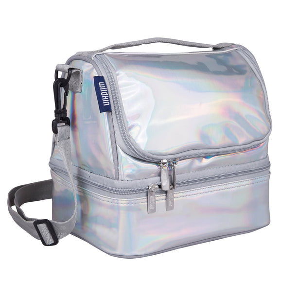 Holographic Two Compartment Lunch Bag