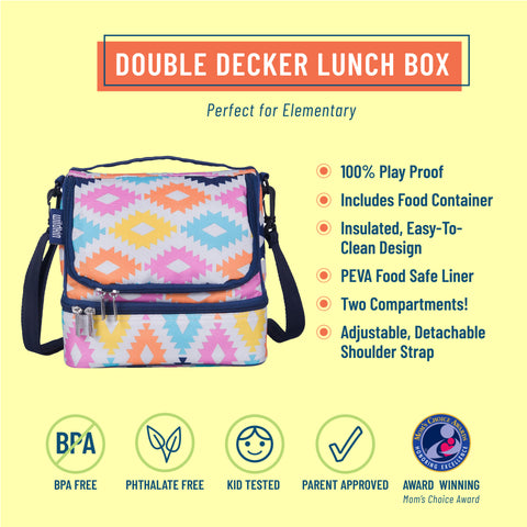 Aztec Two Compartment Lunch Bag