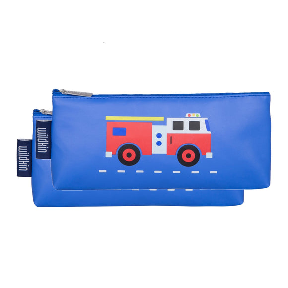 Fire Truck Pencil Pouches (2 pk)