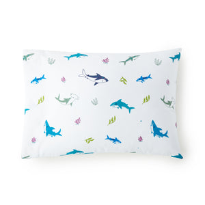 Shark Attack 100% Cotton Hypoallergenic Pillow Case