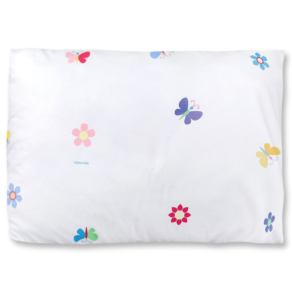 Butterfly Garden Blue Microfiber Pillow Case