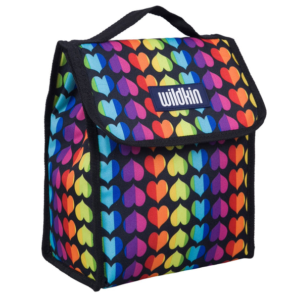 Rainbow Hearts Lunch Bag