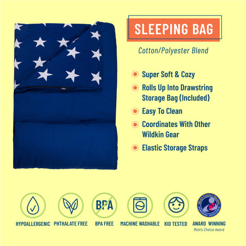 Blue and White Stars Original Sleeping Bag