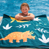 Jurassic Dinosaurs 100% Cotton Beach Towel