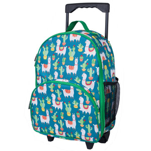 Llamas and Cactus Green Rolling Luggage