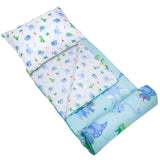Dinosaur Land Microfiber Sleeping Bag w/ Pillowcase