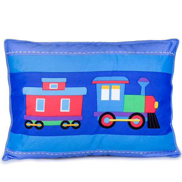 Trains, Planes & Trucks Cotton Pillow Sham