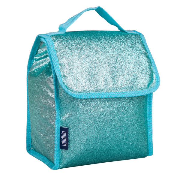 Blue Glitter Lunch Bag