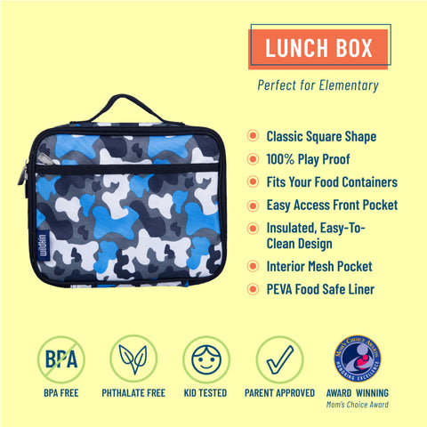 Blue Camo Lunch Box