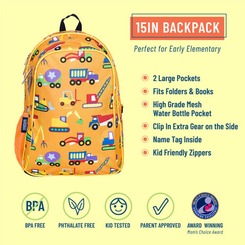 Under Construction 15 Inch Backpack