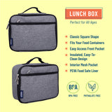 Gray Tweed Lunch Box