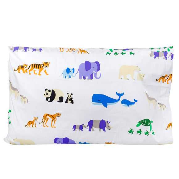 Endangered Animals 100% Cotton Pillowcase
